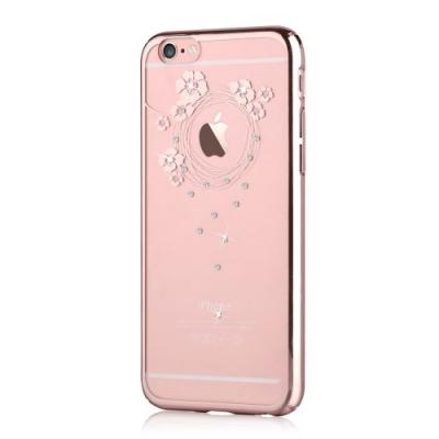Devia Skal med Swarovski-Stenar till Apple iPhone 6(S) Plus - Garland Rosegold