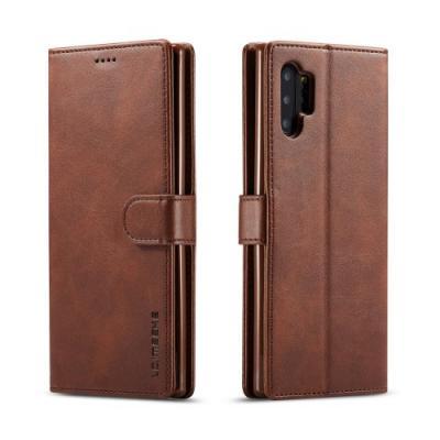 LC.IMEEKE Plånboksfodral för Samsung Galaxy Note 10 Plus - Brun