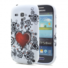 OEMFlexiCase Skal till Samsung Galaxy S3 Mini i8190 - (Red Heart)