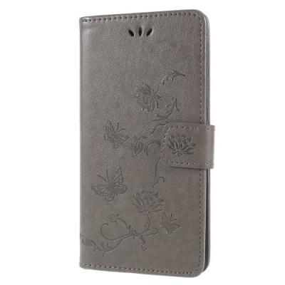 Plånboksfodral till Sony Xperia XZ2 - Grå Fjäril