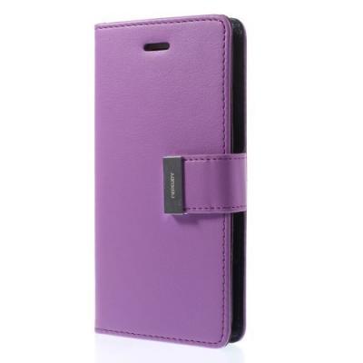 Mercury Rich Diary Plånboksfodral till Apple iPhone 6(S) Plus - Lila