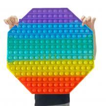 Fidget ToysMEGA Octagon - Pop it Fidget Toy, leksak, Stress Relief Toy - Flerfärgad