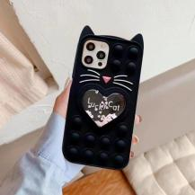 Fidget ToysLove Cat Pop it Fidget Skal iPhone 7/8/SE 2020 - Svart