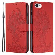 A-One BrandTiger Flower Plånboksfodral till iPhone 6/6S/7/8/SE - Röd