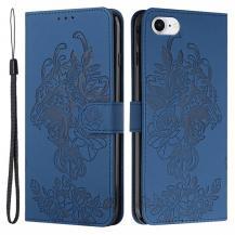 A-One BrandTiger Flower Plånboksfodral till iPhone 6/6S/7/8/SE - Blå