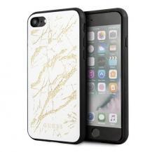 GuessGUESS iPhone 7/8 / SE 2020 Glitter Marble Glass - Vit