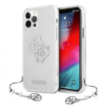 GuessGuess Skal iPhone 12 / 12 Pro 4G Charms Collection - Silver