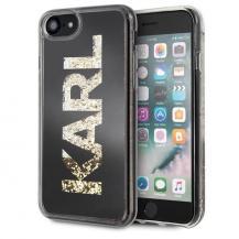 KARL LAGERFELDKarl Lagerfeld skal iPhone 7/8 Svart Karl logo Glitter