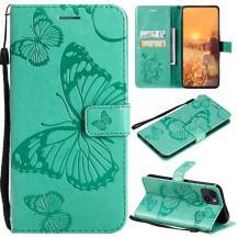 OEMFjärilar Plånboksfodral iPhone 13 - Turkos
