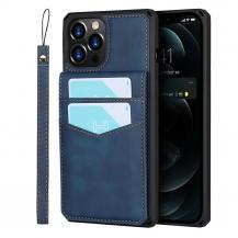 OEMSkal med Kortplatser till iPhone 12 Pro Max - Blå