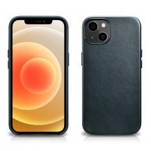 HurteliCarer Läder Oil Wax Magsafe Mobilskal iPhone 13 Mini - Blå