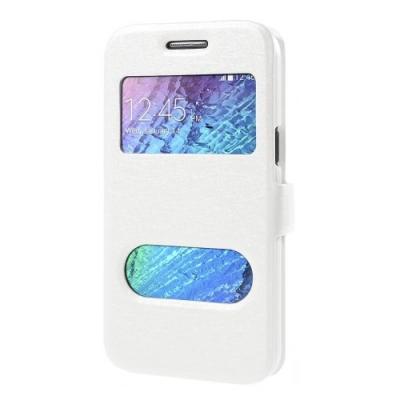 MobilFodral med fönster till Samsung Galaxy J1 - Vit