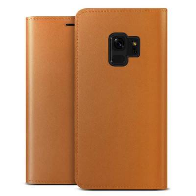 Verus Äkta läder Plånboksfodral till Samsung Galaxy S9 - Brun