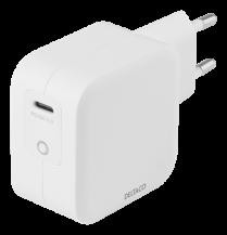 DeltacoDELTACO USB-C väggladdare 61 W med PD och GaN teknologi