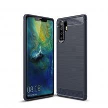 OEMCarbon Brushed Mobilskal till Huawei P30 Pro - Blå