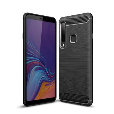 Carbon Brushed Mobilskal till Samsung Galaxy A7 (2018) - Svart