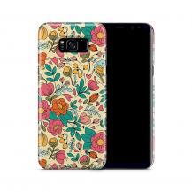 TheMobileStore Print CasesSkal till Samsung Galaxy S8 Plus - Retro Blommor - Beige