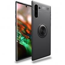 A-One BrandSkal med Stativ och Ring för Samsung Galaxy Note 10 - Svart