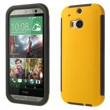 OEMCombo Skal med inbyggd skärmskydd till HTC One M8 (Gul)