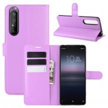 ImakLitchi Läder plånboksfodral Sony Xperia 1 II - Lila