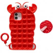 Fidget ToysCrab Pop it Fidget Skal till iPhone 11 - Röd
