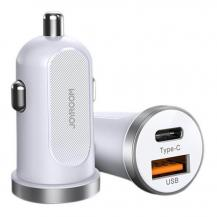 JoyroomJoyroom mini dual port USB Type C/USB 30 W 5 A car charger 3.0 V