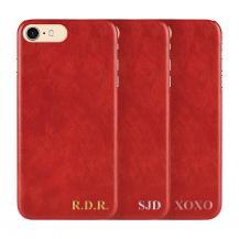 Designa själv - iPhone 8 Plus konstläder skal - Röd