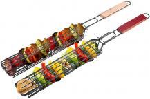 A-One BrandBärbar grillkorg i rostfritt stål - Återanvändbar - Svart
