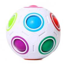 A-One BrandSensory Rubiks Fidget Ball - Magic Cube - Rainbow