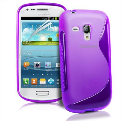 FlexiCase Skal till Samsung Galaxy S3 Mini i8190 - (Lila)