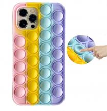 Fidget ToysPop it Fidget Multicolor Skal till iPhone 11