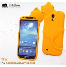 Hello DeereHello Deere Silikonskal till Samsung Galaxy S4 i9500 (Orange)