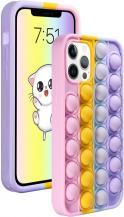 Fidget ToysPop it Fidget Skal till iPhone 7/8 Plus - MultiColor
