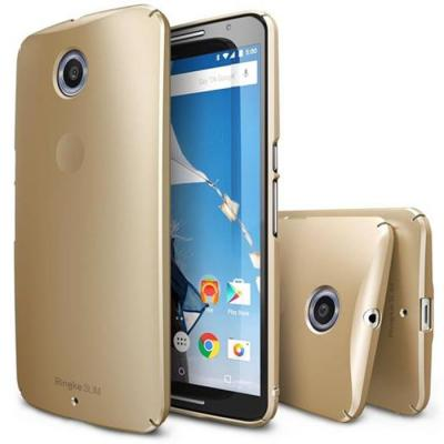 Ringke Slim Skal till Google Nexus 6 - Guld