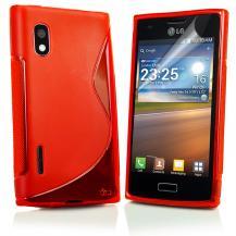 A-One BrandFlexiCase Skal till LG Optimus L5 - E610 - (Röd)