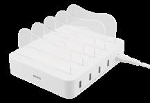 DeltacoDELTACO USB laddningsstation, 4x USB-A portar - Vit