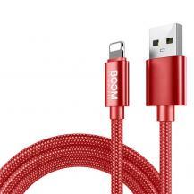 Boom of SwedenBoom of Sweden - Nylon USB till Lightning Kabel, 2.1A, 2M - Röd