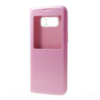 Flip View mobilfodral till Samsung Galaxy S8 Plus - Rosa