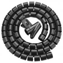 UGrönUGreen spiral tube Kabel organiserare 1,5m Svart
