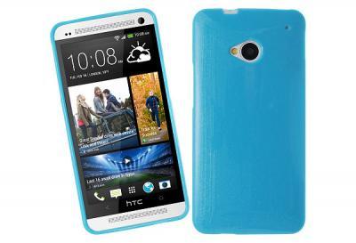 Glittery FlexiSkal till HTC One (M7) (Blå)