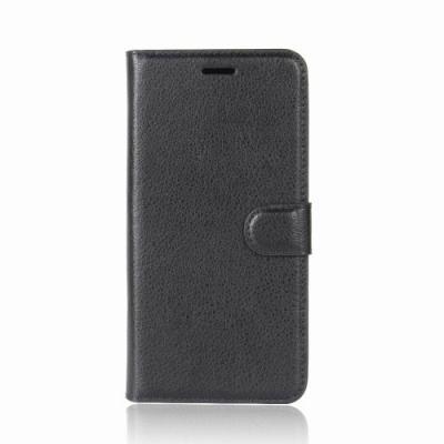 Litchi Plånboksfodral till Nokia 6 (2018) - Svart
