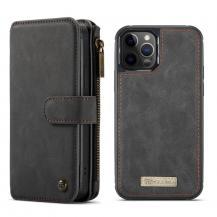 CasemeCASEME Detachable Äkta Läder Plånboksfodral iPhone 12 Mini - Svart