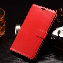 A-One BrandCrazy Horse Plånboksfodral till LG G4 Stylus - Röd