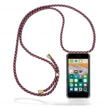 CoveredGear-NecklaceCoveredGear halsbandsskal iPhone 7 Plus & iPhone 8 Plus - Red Camo Cord