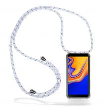 CoveredGear-NecklaceCoveredGear Necklace Case Samsung Galaxy J4 Plus - White Stripes Cord