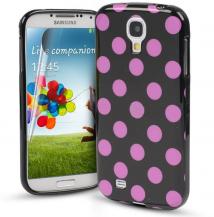 OEMPolka Dot Skal till Samsung Galaxy S4 - Svart/Lila
