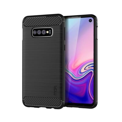 Carbon Brushed Mobilskal till Samsung Galaxy S10E - Svart