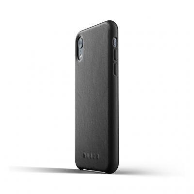 Mujjo Full Leather Case för iPhone XR - Svart