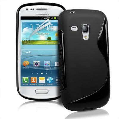 FlexiCase Skal till Samsung Galaxy S3 Mini i8190 - (Svart)