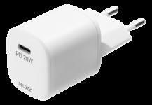 DeltacoDELTACO - USB-C Väggladdare, 20W - Vit
